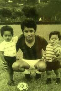 Gonzaldinho y sus hijos Gonzalo Javier y Gerson