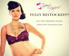 Did you know we were restocked. Check us out for chic and sexy nursing bras, maternity lingerie and nursing tank tops!!!