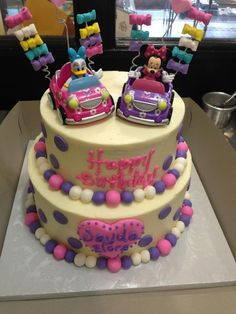 Minnie and Daisy cake, Sugarnomics Cake Studio Guam