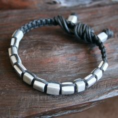 Solid Aluminum Beaded Macrame Bracelet by @losttribedesigns on Etsy, $38.00