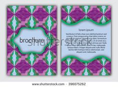 #Patterned #brochure #design #template. Abstract brochure design. Patterned brochure vector. Motley brochure template. Brochure vintage design. Dreamy brochure background.