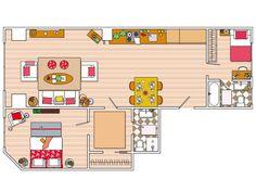 3 ambientes con un dormitorio en suite.