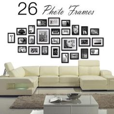multi picture photo frames wall set 26 pcs 164cm x 74cm home deco collage ebay