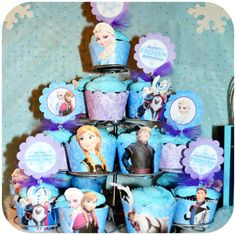 Disney FROZEN Birthday Party Cupcake Toppers by KraftsbyKaleigh