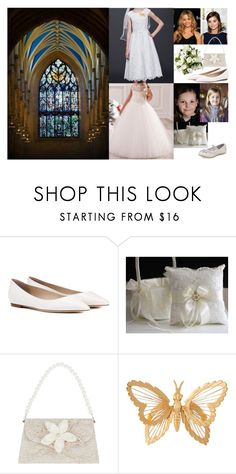 """The Bridesmaids and Flower Girls attending the Wedding of HRH Crown Prince James of Scotland and Lady Victoria Douglas Hamilton at Giles Cathedral"" by hrh-princess ❤ liked on Polyvore featuring Jimmy Choo, Coleman, Giles, Carter's, Monsoon and Susan Caplan Vintage"