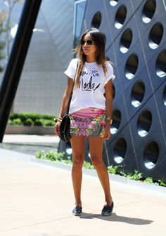 Printed #Tee & #Skirt