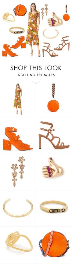 """Floral design"" by paige-brrian ❤ liked on Polyvore featuring Whistles, Diane Von Furstenberg, Laurence Dacade, Jimmy Choo, Kate Spade, Marc Jacobs, Jennifer Fisher, Nora Kogan and Amber Sceats"