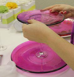 DIY Dessert Stands- this is for Jen too! Wedding Crafts, Wedding Stuff, Wedding Ideas, Decor Crafts, Home Crafts, Diy Crafts, Dollar Store Crafts, Dollar Stores, Diy Ideas