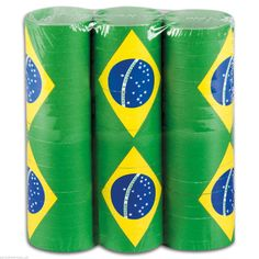 3X BRAZIL FLAG RIO OLYMPICS 2016 PUB PARTY THROW STREAMER DECORATION 4M GARLAND #Boland #WorldCup2014