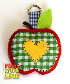 Appel met geel hartje