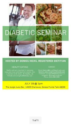 Lear methods to prepare healthy meals for a diabetics