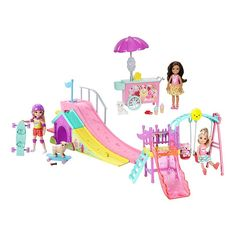 Check out the Barbie Playground Gift Set at the official Barbie website. Explore all of our Barbie Gift Sets today! Baby Doll Nursery, Baby Girl Toys, Toys For Girls, Baby Dolls, Barbie Kids, Barbie Doll Set, Chelsea Doll, Club Chelsea, Barbie Website