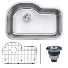 Buy the Ruvati Stainless Steel Direct. Shop for the Ruvati Stainless Steel Parmi Undermount Single Basin 16 Gauge Stainless Steel Kitchen Sink with Basin Rack and Basket Strainer and save. Best Kitchen Sinks, Kitchen Sink Design, Cool Kitchens, Stainless Steel Kitchen, Brushed Stainless Steel, Single Bowl Kitchen Sink, Basin, Satin Finish, Centerpiece