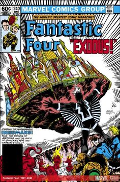 The Marvel Comics of the 1980s 1982 - Fantastic Four #240 by John Byrne (Terry Austin inked the cover!)