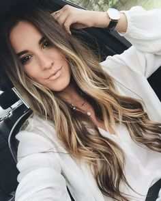 +a Ombré Hair em morenas. Ombré Hair, Brown Hair With Highlights, Caramel Highlights, Front Highlights, Color Highlights, Light Brown Hair, Dark Brown, Light Brown Ombre, Brown Eyes