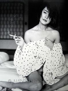 Kishin Shinoyama, Kanako Higushi on ArtStack Smoking Is Bad, Women Smoking, Girl Smoking, Japanese Photography, White Photography, Portrait Photography, Japan Advertising, Most Famous Photographers, John Lennon And Yoko