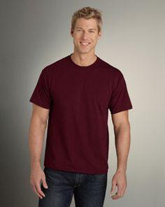 5.6 oz., 50% preshrunk cotton, 50% polyester   #gildan #customtshirt
