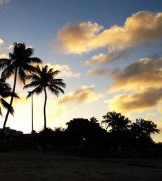 Pôr do sol em Manaíra - João Pessoa - Paraíba - Brasil.
