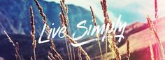Timeline Cover: Live Simply #timelinecover #facebookcover