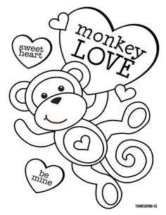 Free Valentine Coloring Pages Coloring Pages Coloring Ideas Valentine Pages Valentines Day Colorings For You To Color With Your Valentineday Awesome Monkey Coloring Pages, Free Kids Coloring Pages, Heart Coloring Pages, Online Coloring Pages, Coloring For Kids, Coloring Books, Boy Coloring, Fairy Coloring, Free Coloring