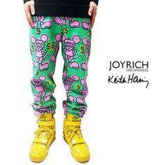 JOYRICH(ジョイリッチ)×KEITH HARING Andy Mouse Sweat Pants スウェット パンツ ボトムス キースへリング コラボ 【あす楽対応】