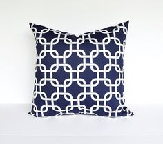 Nautical Pillow Covers Throw Pillows Decorative Pillow Navy Blue Pillow 20x20 Cushion Cover $18