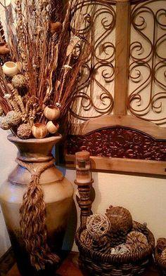 Tuscan decor – Mediterranean Home Decor Western Decor, Country Decor, Rustic Decor, Unique Home Decor, Home Decor Styles, Diy Home Decor, Spanish Home Decor, Mediterranean Home Decor, Tuscan Design