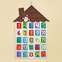 santa calender, just bought for Ozzie's first Christmas...ok, more of a purchase for me than him. =)