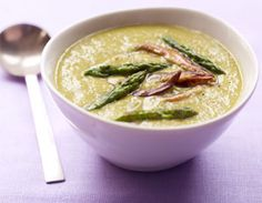Asparagus and mushroom soup... Only 127 calories per serving!!