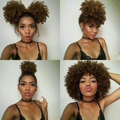 32 Best Afro Ponytail Images Natural Hair Styles Curly Hair