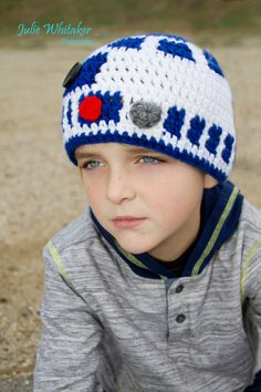 Star Wars R2D2 Crochet Beanie made to order all by BeccasBeanies