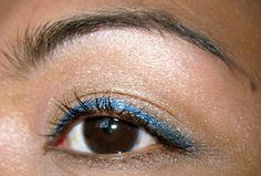 aqua metallic eyes