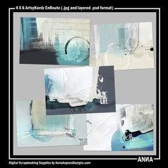 Oscraps :: Shop by Designer :: Anna Aspnes Designs :: 4 X 6 ArtsyKardz EnRoute