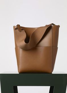Sangle Seau Bag in Natural Calfskin - Fall / Winter Collection 2015 | CÉLINE