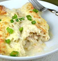 Chicken Enchiladas with Sour Cream White Sauce - I've GOT to try this!!!  =)