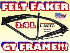 49cc/66cc80cc 2-STROKE MOTORIZED BIKE FRAME FOR MOTORIZED BIKE KIT   eBay Motorised Bike, Bike Kit, Motorized Bicycle, Bike Frame, Store, Ebay, Tent, Shop Local, Larger
