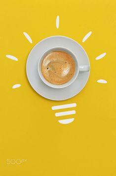 Cup of Espresso Coffee Idea And Innovation Concept by Laurentiu Iordache / 500px Espresso Coffee, Innovation, Concept, Grey Yellow, Coffee Break, Tableware, Dinnerware, Expresso Coffee, Tablewares
