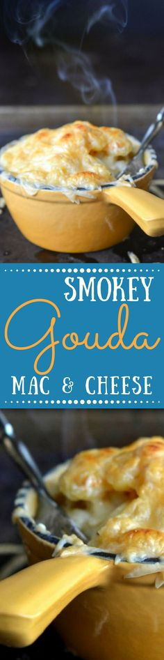 Smokey Gouda Mac and Cheese Smoked Gouda Mac & Cheese takes everybody's favorite comfort food up a notch ~ this easy and delicious meal can be on the table in under an hour. Easy Dinner Recipes, Great Recipes, Easy Meals, Favorite Recipes, Dinner Ideas, Meal Ideas, Easy Mac And Cheese, Mac Cheese, Macaroni And Cheese