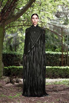Amazing braided leather cape