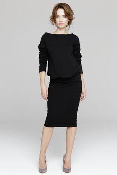Sukienka za kolano z luźniejszą górą PE101 thetwiggyshop.com
