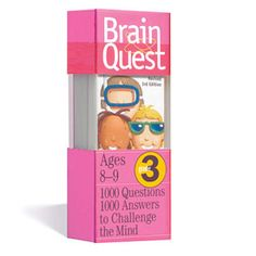 "Brain Quest®: Grade 3- Brain Quest is beloved by kids, trusted by parents, used and recommended by teachers. It's the curriculum-based, fast-paced, question-and-answer game that challenges kids on the stuff they need to know, when they need to know it. It's the brand that says ""It's fun to be smart!"" And it delivers."