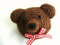 Free Crochet Bear Brooch Pattern