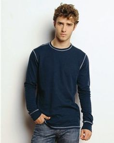 Canvas- Men's Long Sleeve Fashion T-Shirt- Light Weight 50/50 -3500