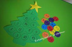 Nauka przez zabawę czyli odrobina matematyki w świątecznym wydaniu   Kreatywnie w domu