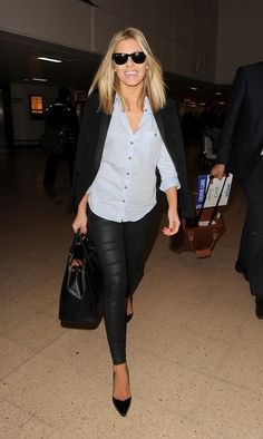 Leather pants. Mollie King
