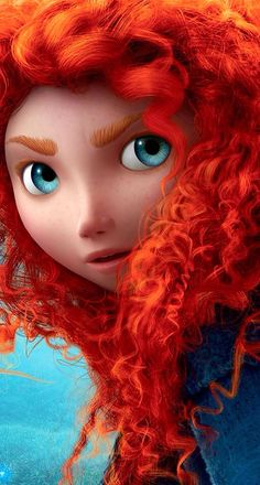 Brave. You can tell by the eyebrows, she is a real redhead! LOL