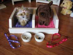 Pet Bed/Accessories for American Girl Doll by MadiGraceDesigns