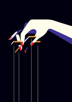 This illustration by Malika Favre makes me think of the government. I like the color used to represent shadow and also I like it is a women holding the strings so we know without them we wouldn't be here. Arte Pop, Pop Art, Penguin Books, Poster S, Art Graphique, Flat Illustration, The New Yorker, Grafik Design, French Artists
