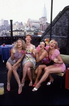 Sex and the City Carrie Miranda Charlotte Samantha :) #friendship lovelife style#
