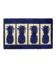 This Blue Pineapple Handwoven Doormat is perfect! #zulilyfinds
